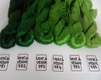 BLADDER green silk embroidery thread