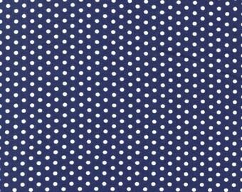 Spot On Navy Mini Dots From Robert Kaufman
