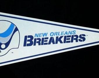 1982 USFL New Orleans Breakers Pennant