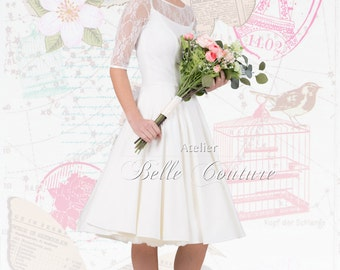 "Romantic vintage wedding Dress ""Jule"""