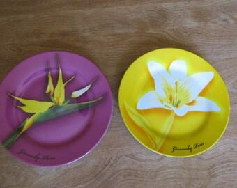 Vintage Givenchy Floral Dessert Plates