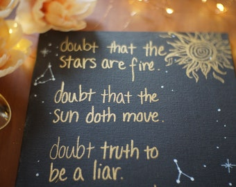doubt the stars (shakespeare quote art)
