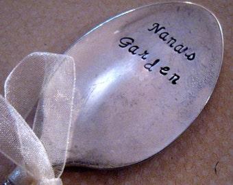 Spoon Garden Marker - Garden Stampings - Nana's Garden - Plant Stake for Grandma