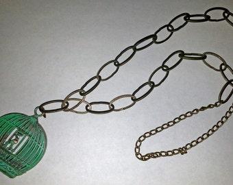 Birdcage Necklace  (E 235)