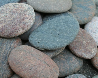 25 Extra LARGE Sea Stones Beach Stones Wedding Guest Book