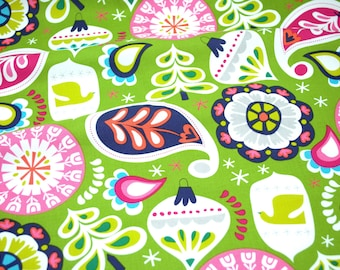 Fat Quarter Sale! - Treelicious by Maude Asbury for Blend Fabrics - Holiday Baubles in Green