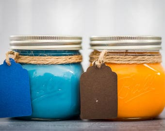Soy Candle - Soy Wax Candle - Candle Set - Candle - Scented Candles -Ball Jar Candle - Natural Candle - Jar Candle - Glass Jar Candle