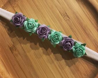 FLORA Flower Headband, Baby/Toddler Headband, Girls Nylon Headband