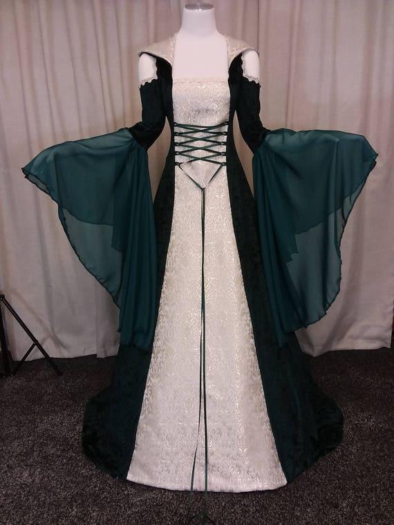One Shoulder Celtic Wedding Dress