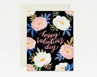 Peony Valentine's Day Card