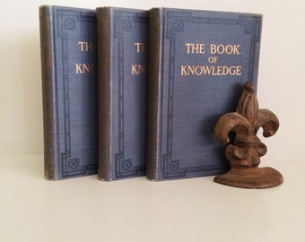 Sale! 1912 Art Deco The Book of Knowlege Books, Volumes 9, 10, and 14