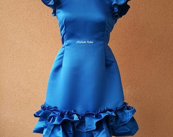 Cocktail dress with ruffle