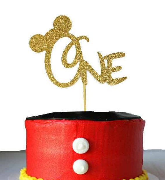 Mickey Mouse Birthday Cake Topper Mickey Mouse any age First