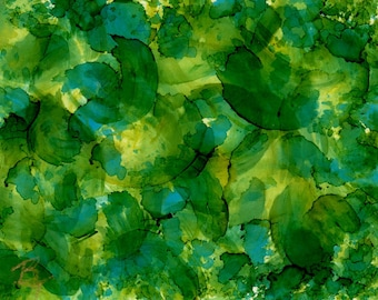 Alcohol Ink AIArt aceo Abstract Lily Pads