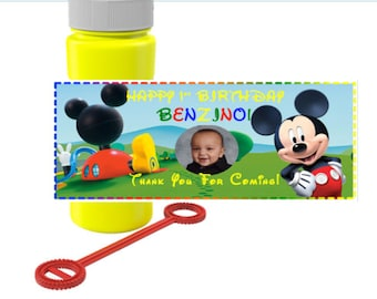 Mickey Mouse bubble custom label