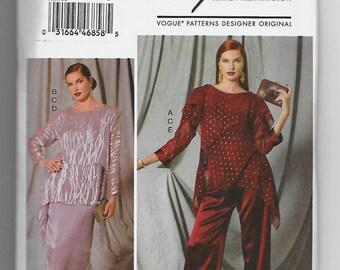 V9229 Vogue Tunics, Shell, Skirt, and Pants Sewing Pattern Sizes 8-16