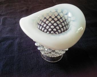 Vintage Fenton Hobnail Vase Opelescent Hobnail Vase - Vase - Hobnail Vase - Fenton Vase - Opelescent Vase