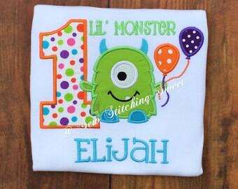 Monster Birthday Shirt, Monster T Shirt, Monster Birthday, Lil Monster Birthday Shirt, Monster Party, Monster 1st birthday, Monster Shirt