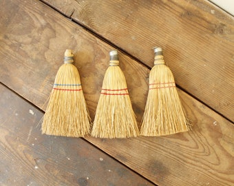 Curated Set of Rustic Primitive Whisk Brooms Wall Decor
