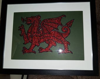 Welsh Dragon Glass Bead picture.