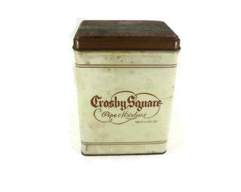 Vintage Crosby Square Tobacco Tin Empty