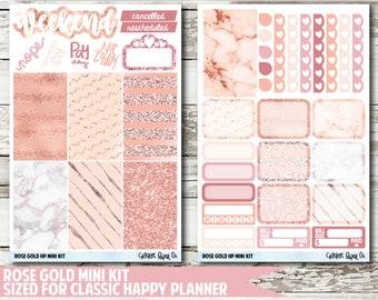 Rose Gold CLASSIC HAPPY PLANNER Stickers