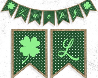 St. Patricks Day Party   St Patty's Day Banner   Shamrock Banner   St. Patricks Day Decor   Lucky Irish Banner   Shamrock Garland
