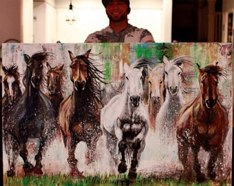 Horse Power (print), horses, western