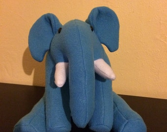 Blue stuffed elephant/nursery decor