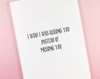 I miss you card/Long distance card/Boyfriend card/Girlfriend card/Husband card/Wife card/Love card