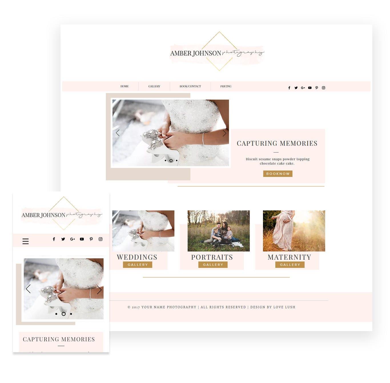 Studio Lighting Website: Wix Template With Logo Photography Website Portfolio