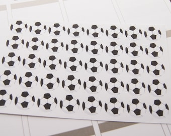 Soccer Stickers Planning Stickers Plum Paper Stickers Small Soccer Ball Stickers - Set of 40