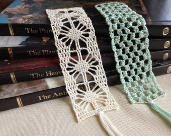 Instant download - Crochet PATTERN (pdf file) – Bookmark Heirloom Collection 2 -  Pattern and Tutorial