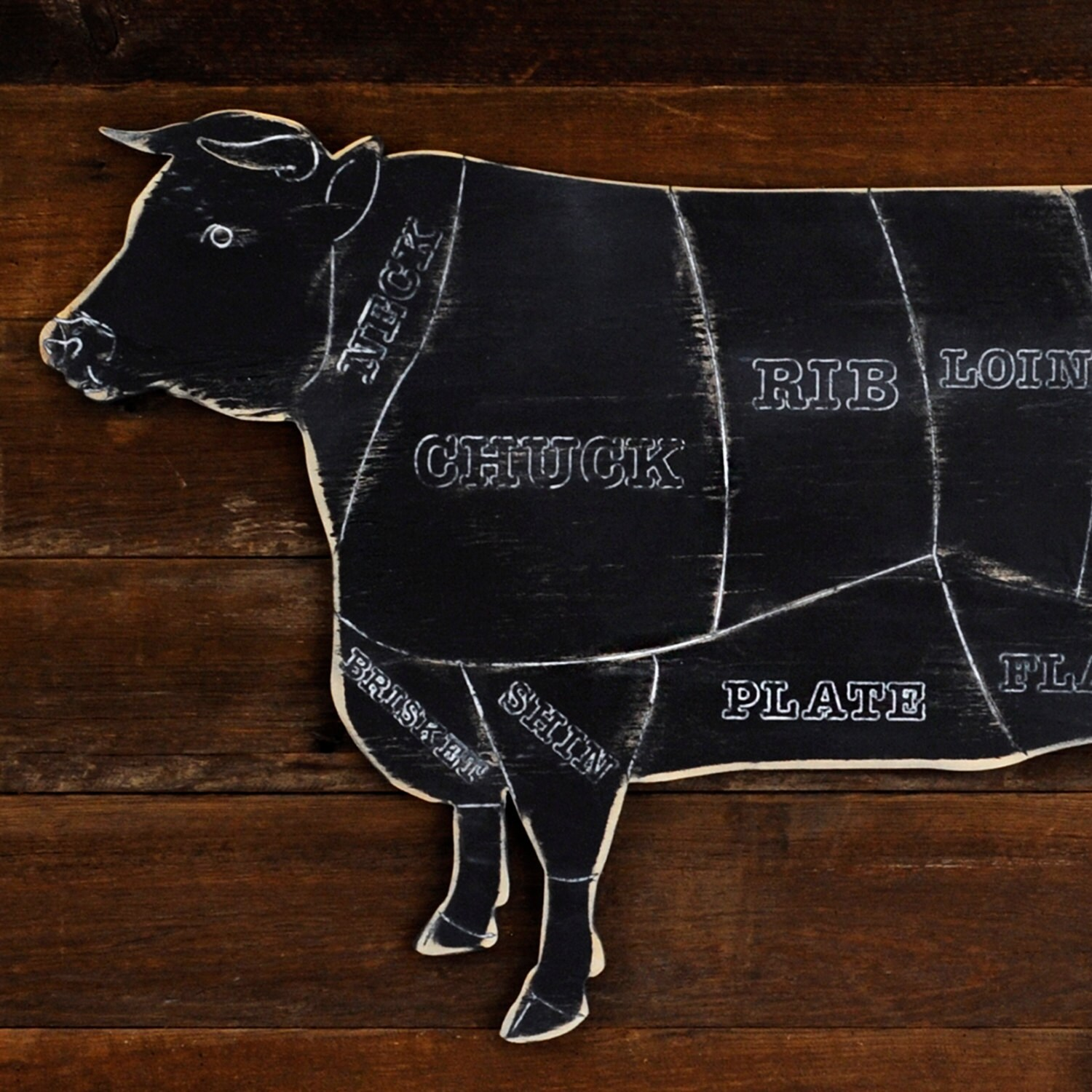 Rustic cow butcher shop sign beef meat chart butcher diagram zoom ccuart Gallery