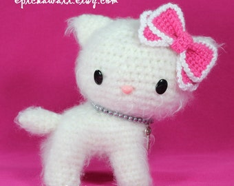 PATTERN: Ceylon the Persian Kitten - Teacup Pet Collection Crochet Amigurumi Doll