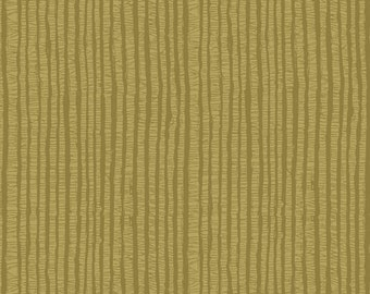 Ginger Rose Fabric - Olive Stripe Fabric