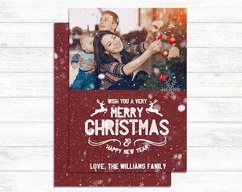 PRINTABLE Christmas photo card, Christmas invitation, Christmas Card, Show, Holiday Invite Holiday photo card Happy Holidays Christmas print