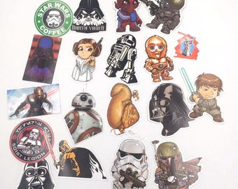 35 Very Cool Star Wars Stickers decal star wars vinyl, star wars car decal, death star sticker, darth vader stickers, starwars stickers