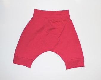 Hot Pink Harem Shorts, Summer Shorts