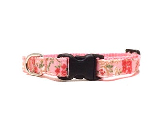 The Flower Girl - Pink   Cat Collar with Bell