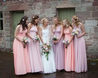 Maxi bridesmaid dress with free  tube top Infinity dress