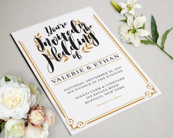 Wedding Invitations WITH Response Cards | Customized Invitations