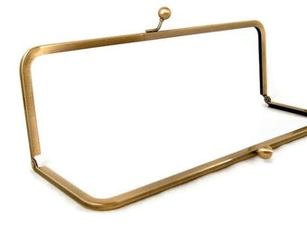 12 x 4 Antique Brass Purse Frame FREE U S SHIPPING