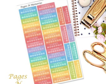 Vitamins Planner Stickers/ Tracking Stickers/ Health Stickers/ Erin Condren/  Plum Paper/ Recollections/ Happy Planner  #117