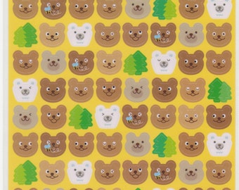 Bear Stickers - Kawaii Japanese Stickers - Reference C3638