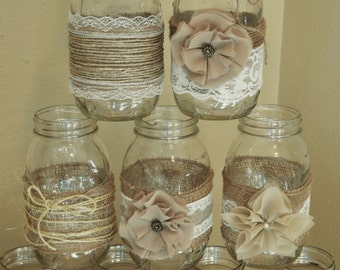 burlap wedding decorations for sale jar centerpieces rustic jars wedding 2147