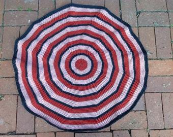 """Area Rug, Floor Mat, 31"""", indoor/outdoor, crochet"""