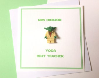 Yoda Best Teacher Card - Minifigure