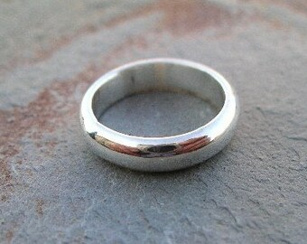 3mm Half Round Sterling Silver Wedding Band RF043
