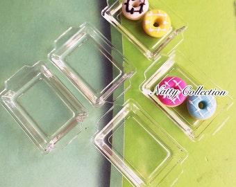 5Miniature Acrylic tray,Miniature tray, Dollhouse tray,Miniature food tray,dollhouse DIY,Miniature DIY,Acrylic Tray Dollhouse